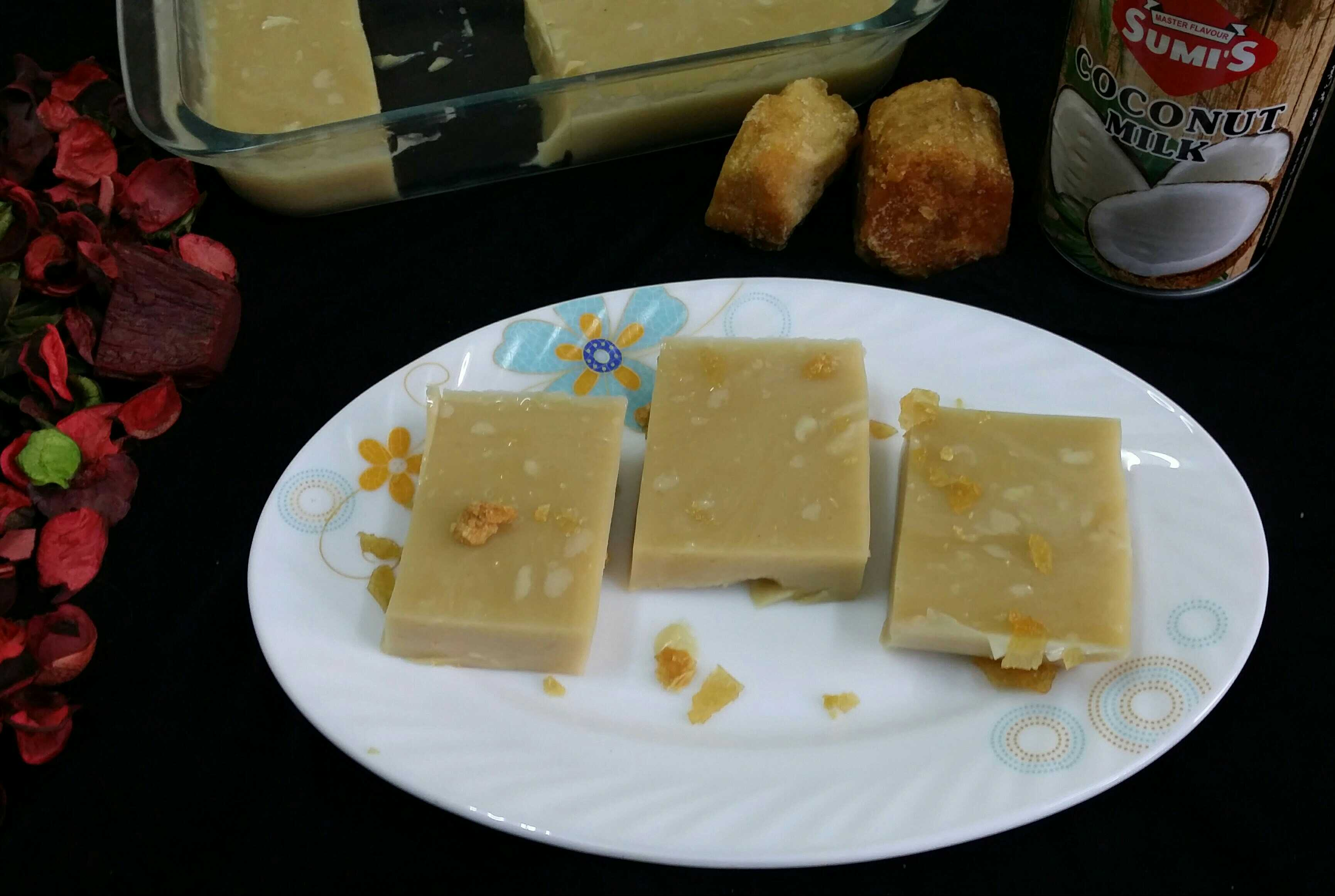 Jaggery and Indian Coconut Panna Cotta..