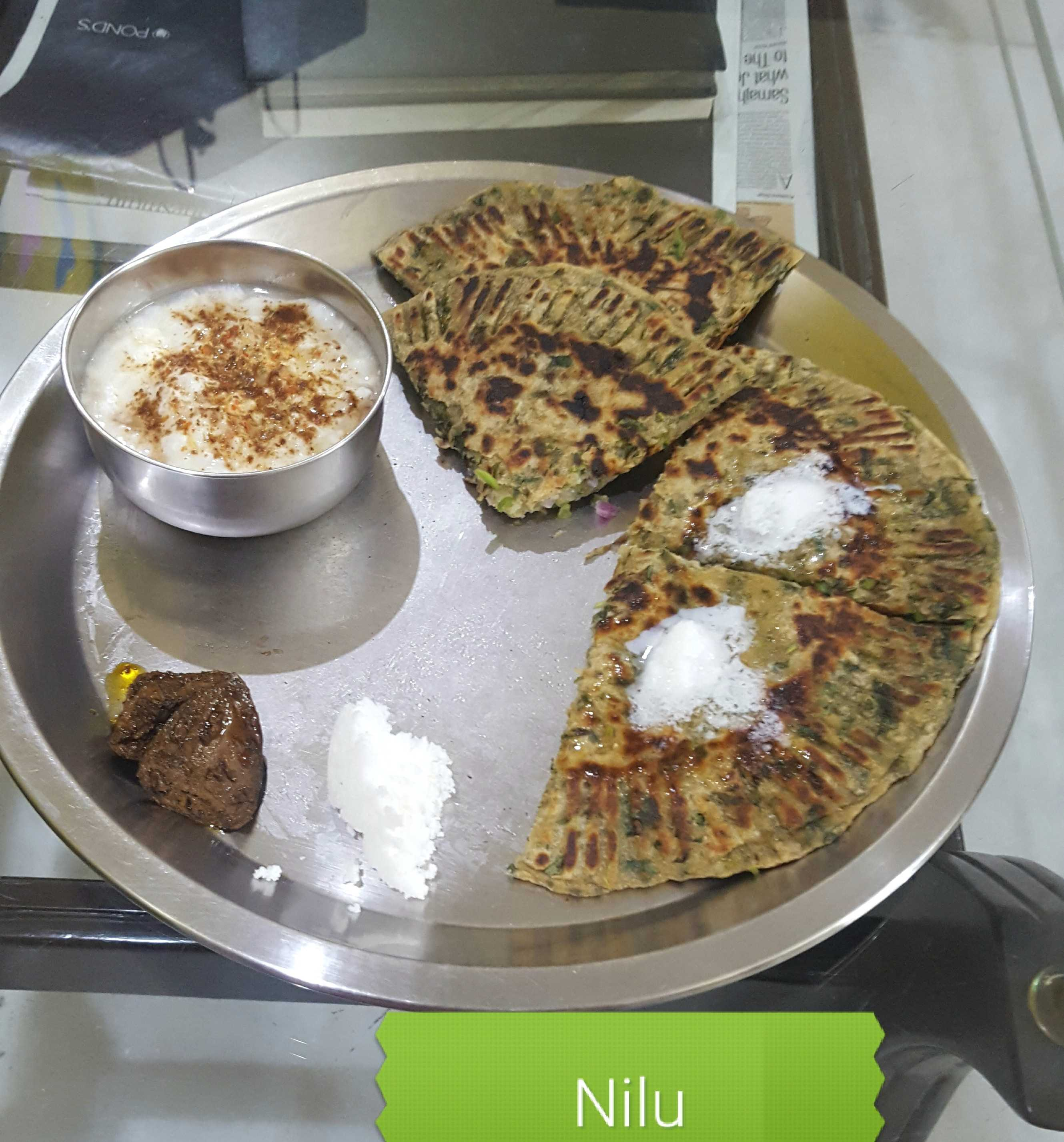 Stuffed Methi Parantha