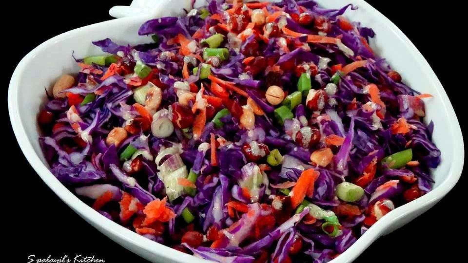 Crunchy Purple Cabbage Salad