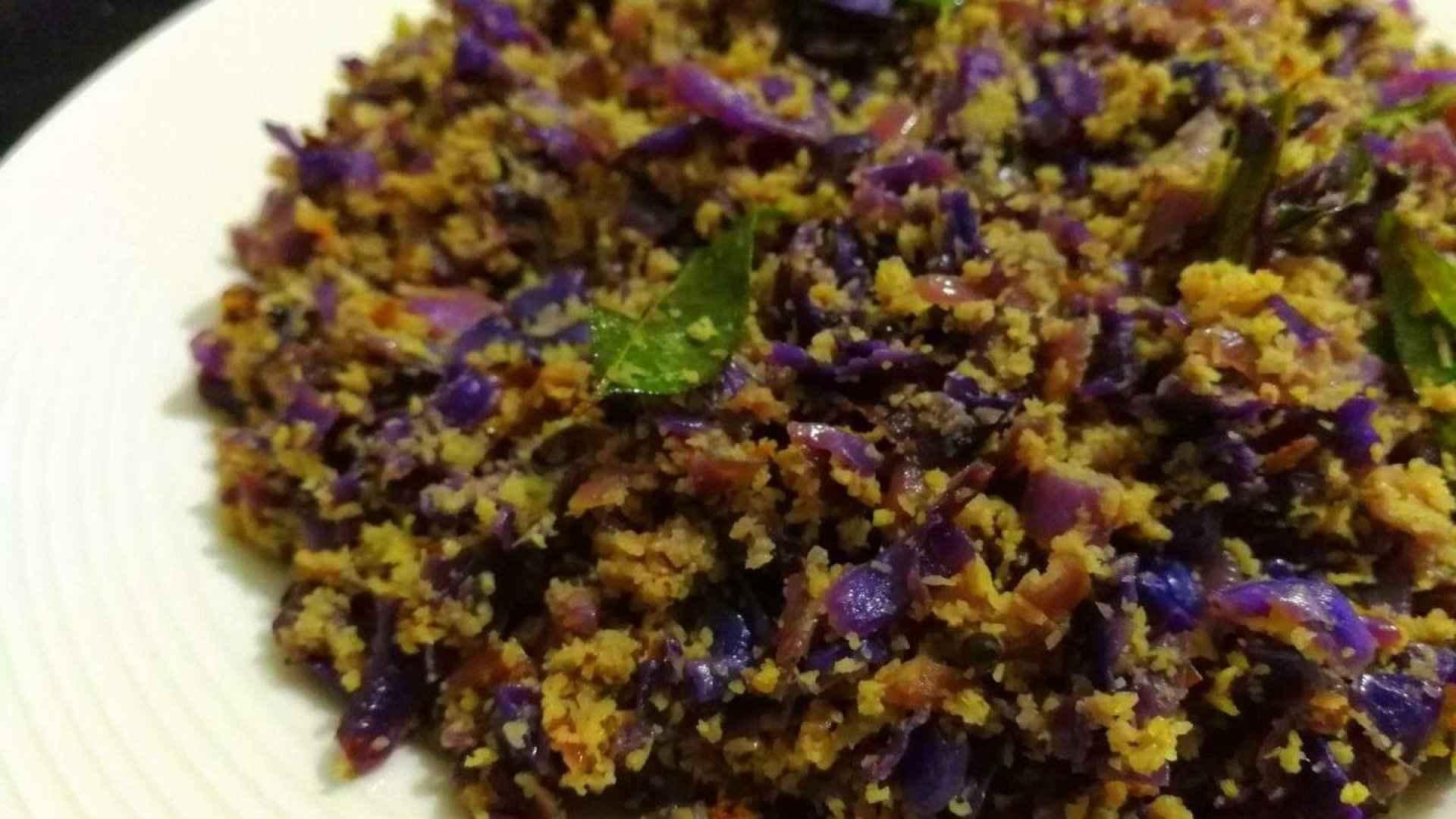 Purple cabbage Thoran