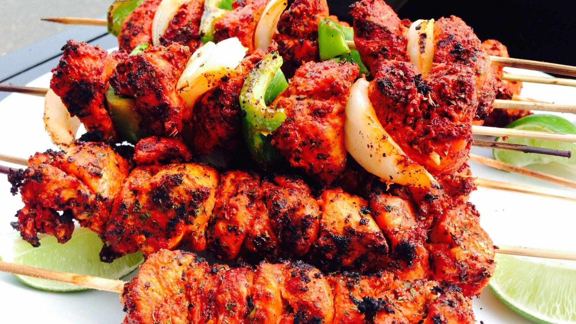 Grilled Tandoori Chicken Wings With Yogurtt