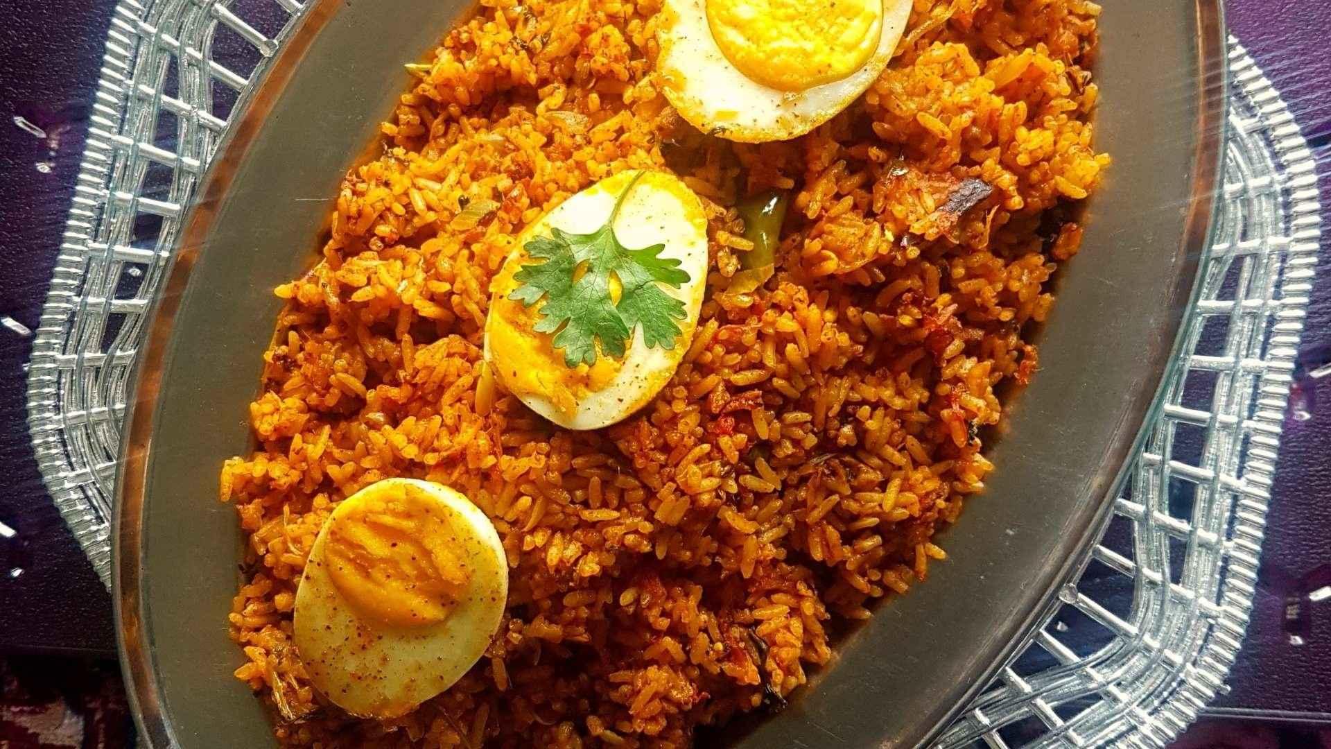Spicy Egg Biriyani