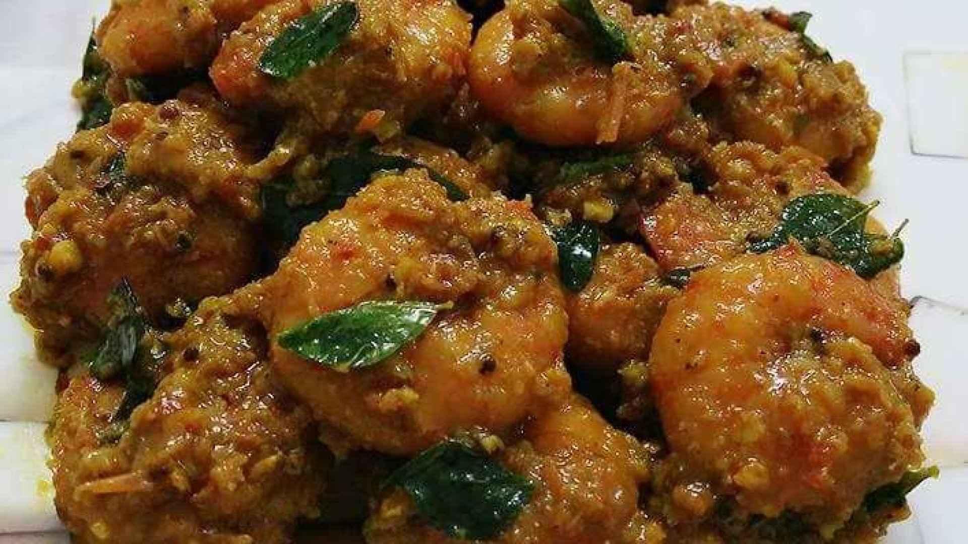 Prawn masala/ South Indian style prawn