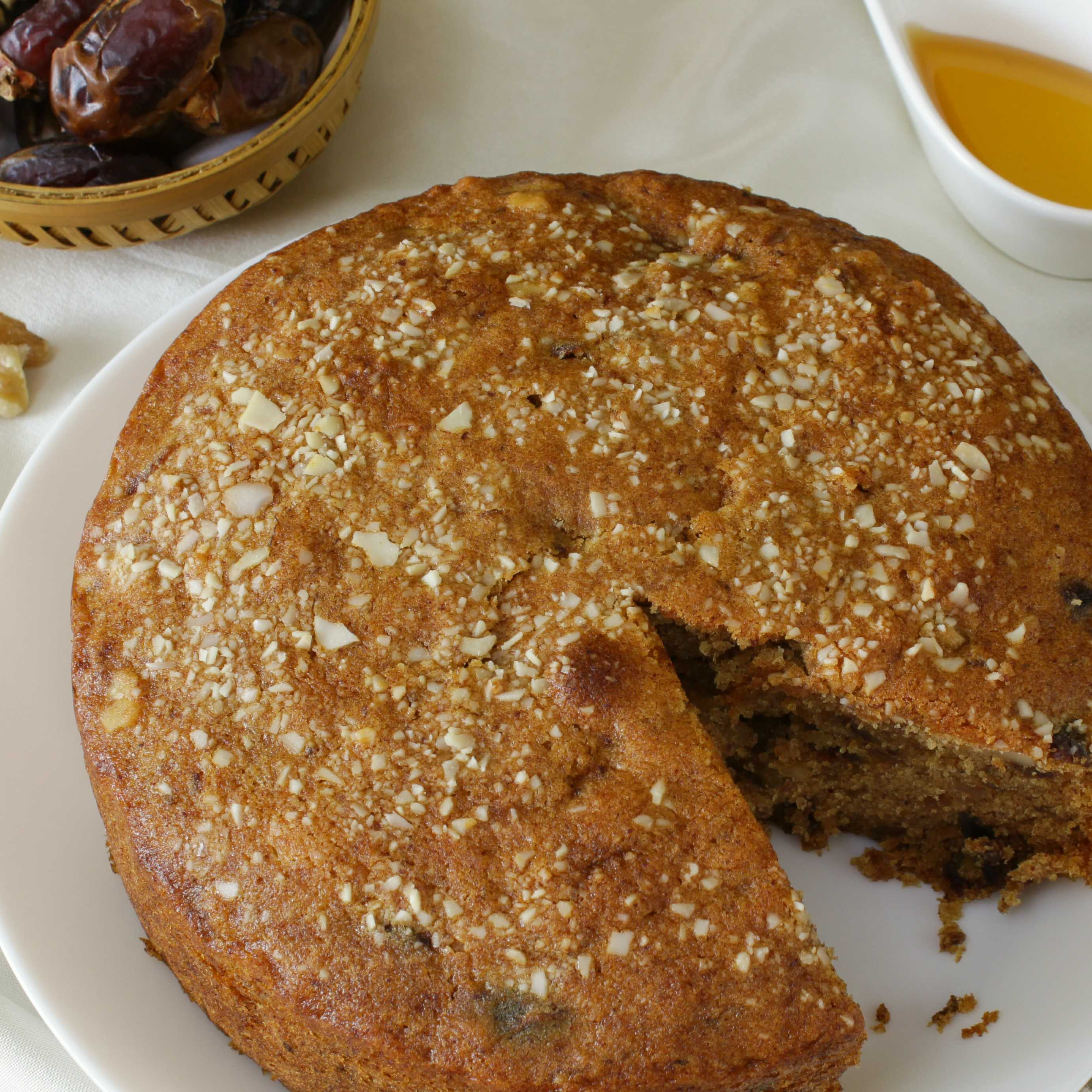 Healthy Dates And Walnuts Cake