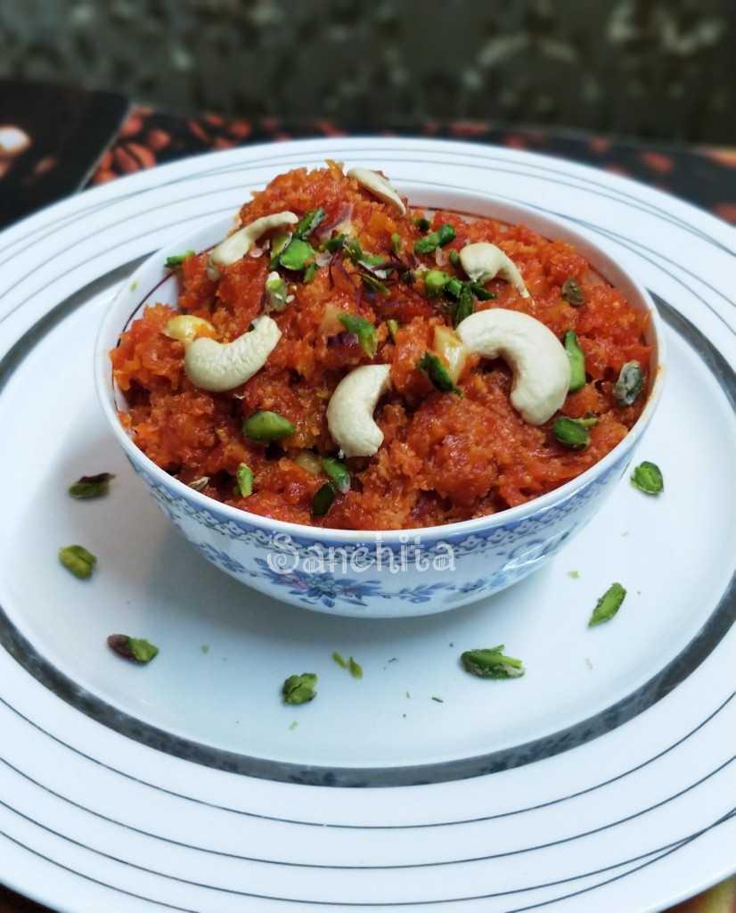 Nutty Carrot Halwa/Fudge