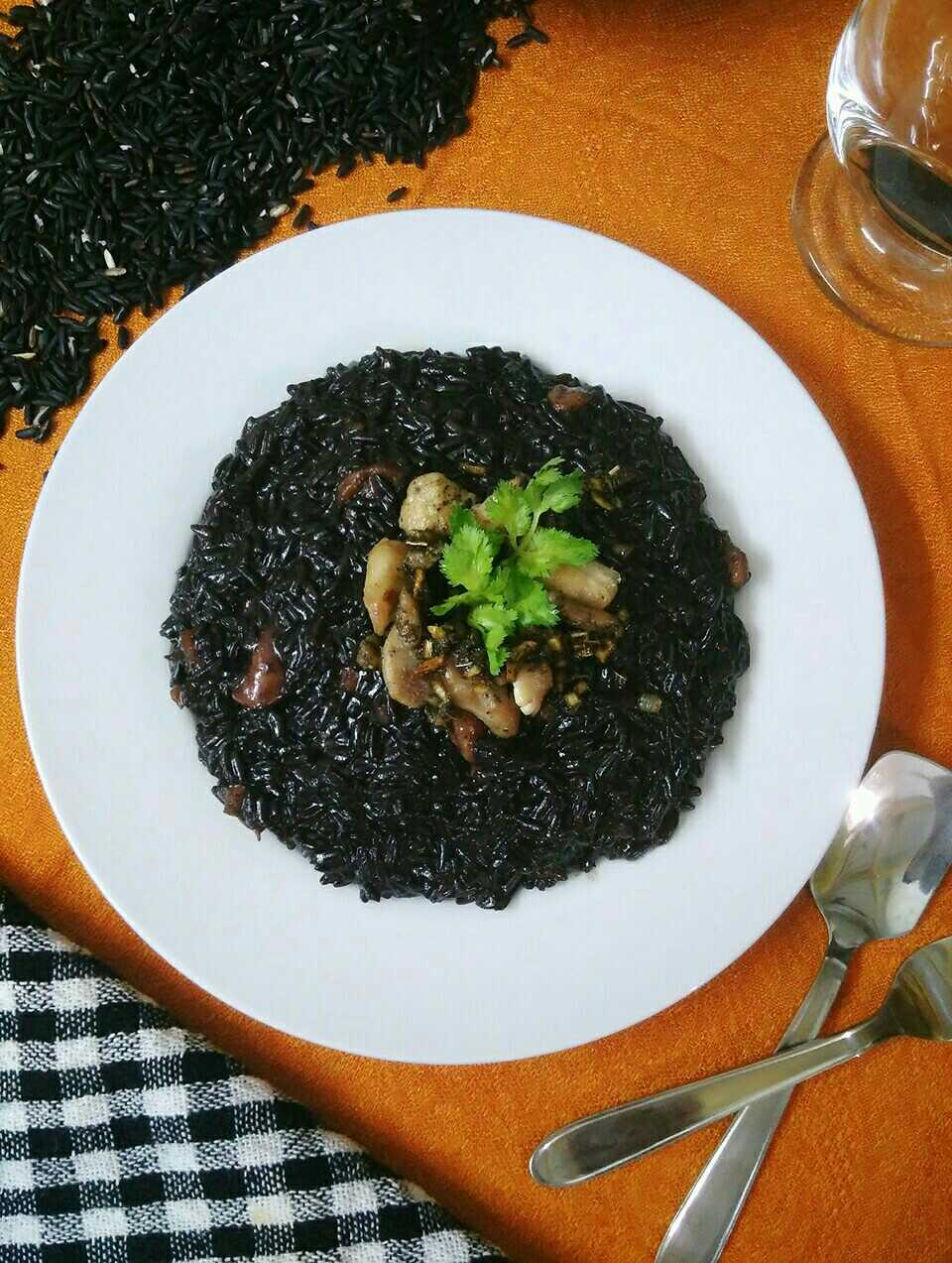 Black Rice Chicken Risotto