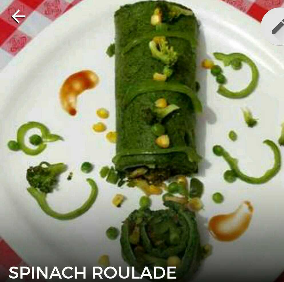 SPINACH ROULADE.