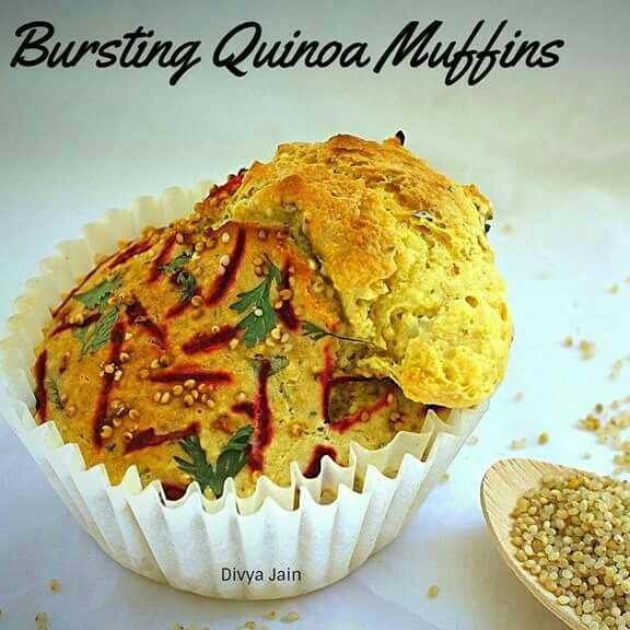 Bursting Quinoa Muffins
