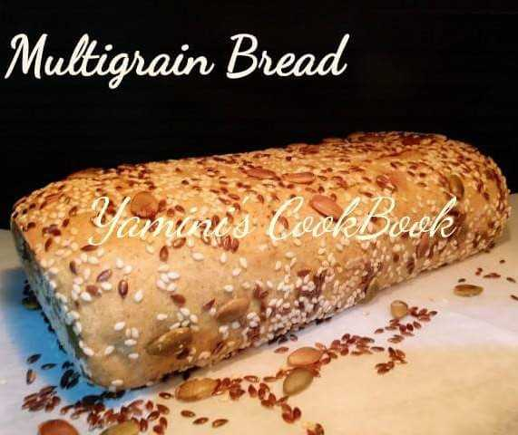 Multigrain Bread With Flaxseed, Pumpkin Seeds And  Sesame