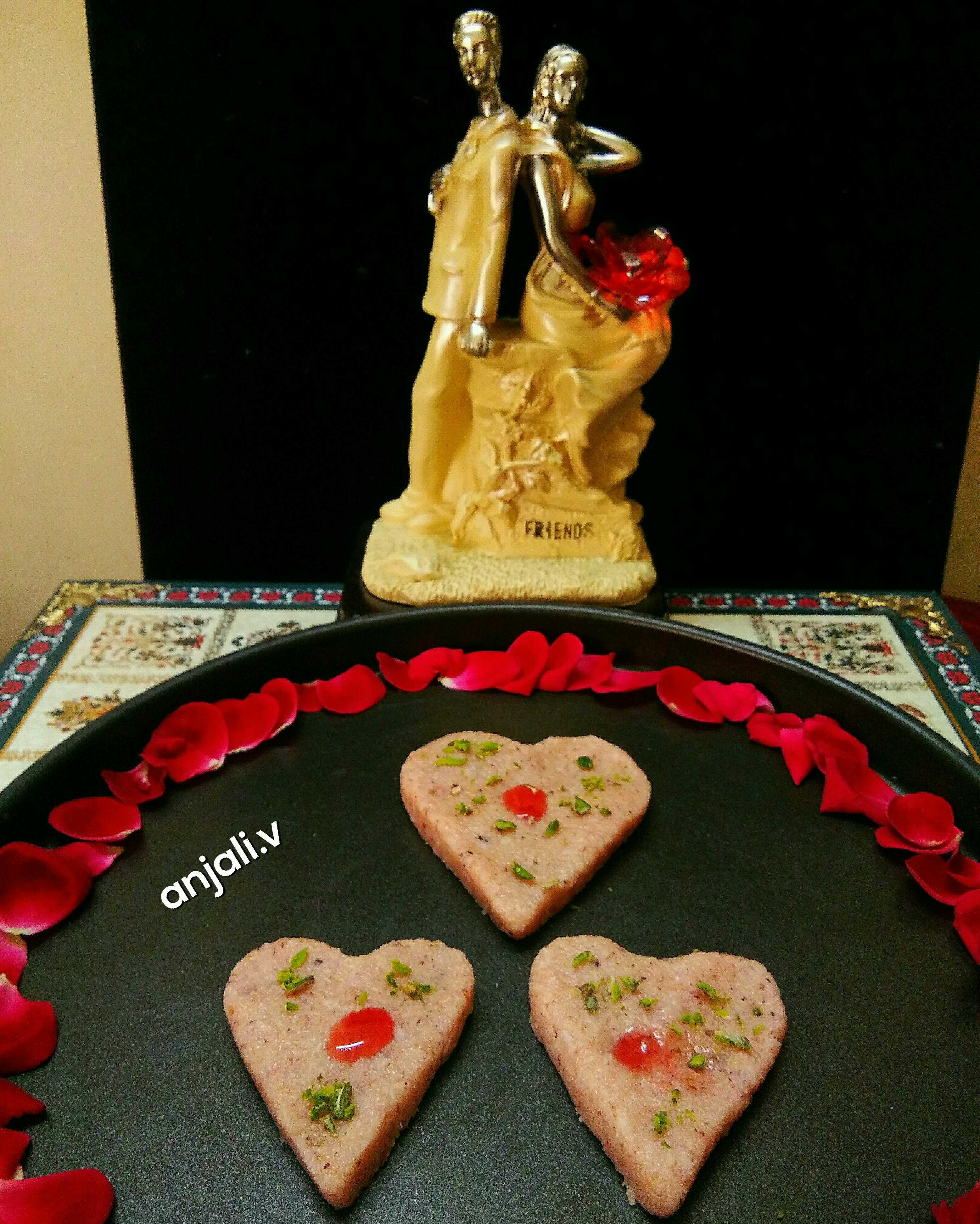 Heart Rose and coconut Fudge