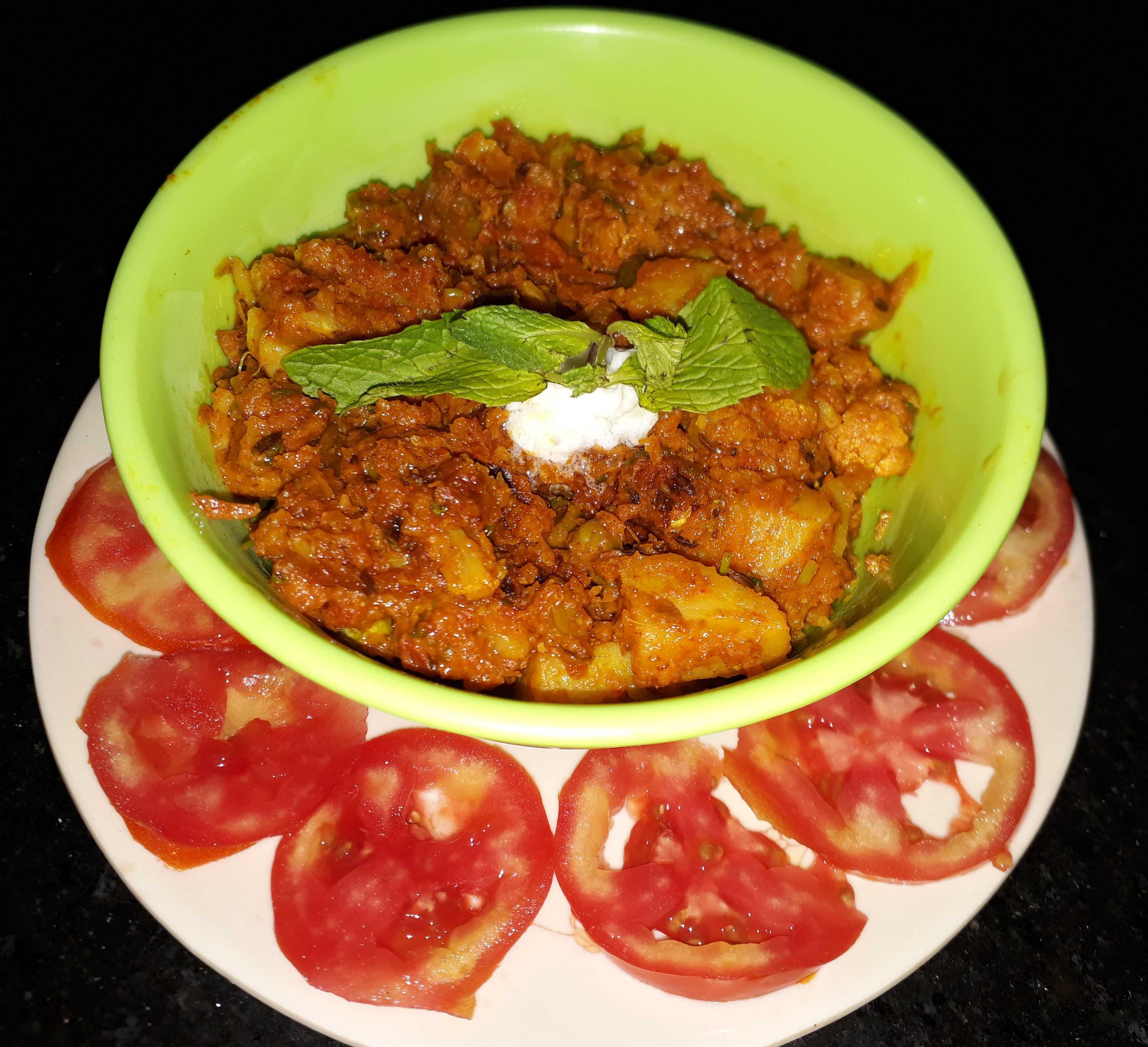 Restaurant Style Aloo Matar Gobi