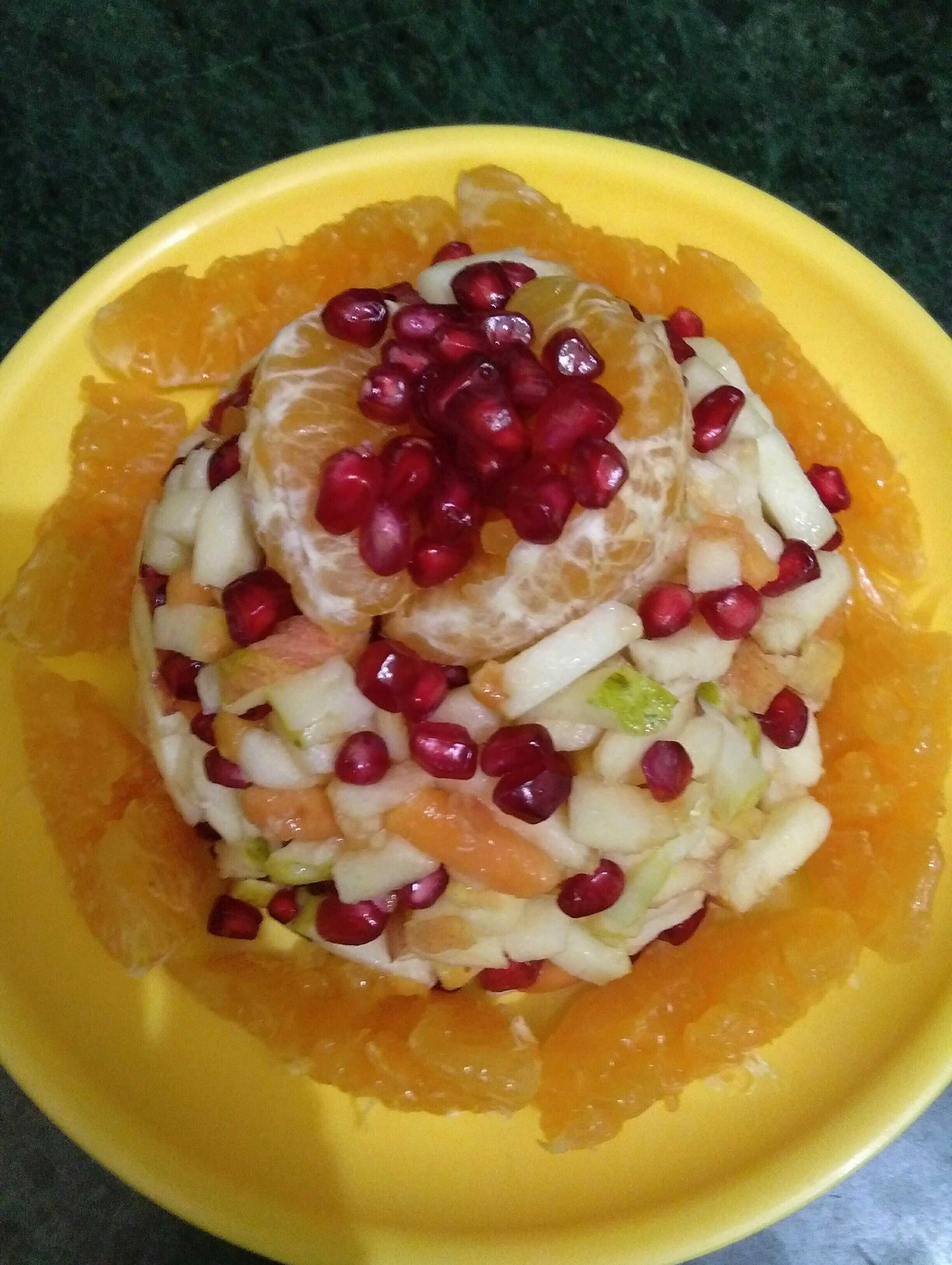 Mix Fruit Chat Cake