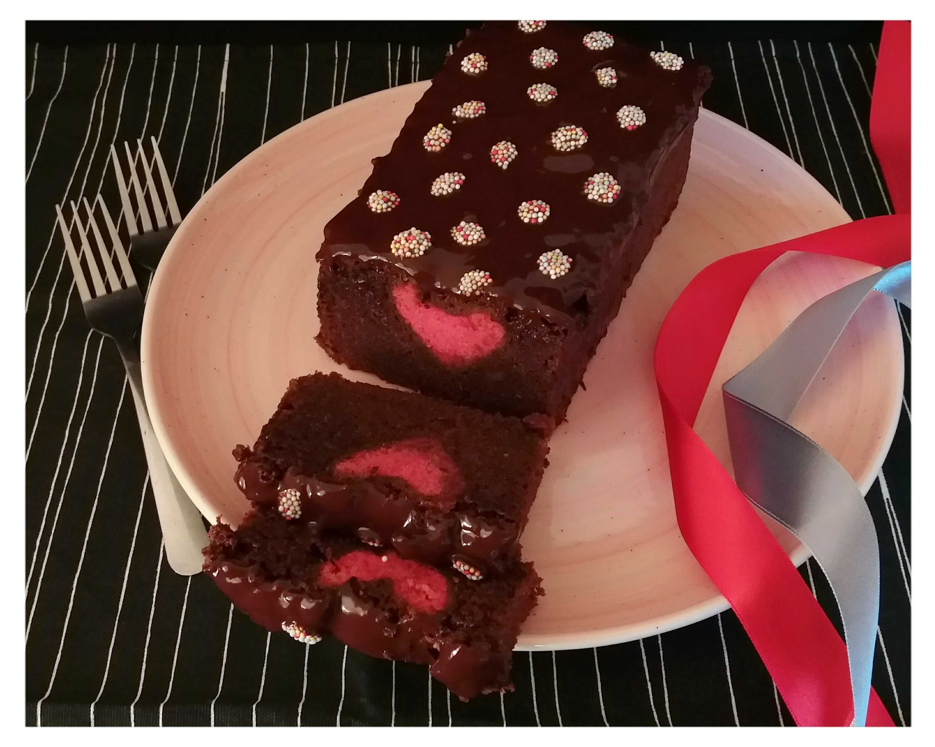 Chocolate Pound Cake With Hidden Heart