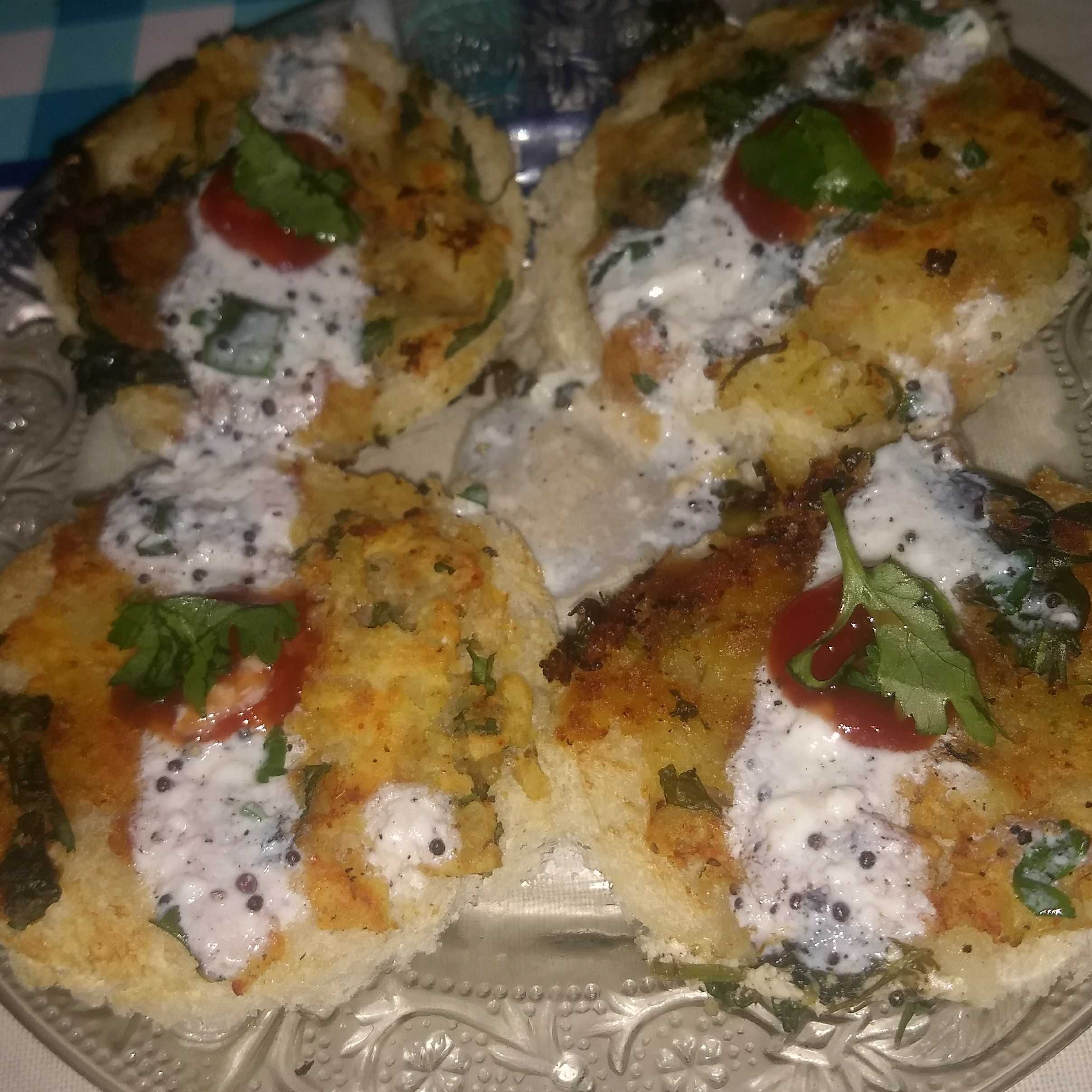 Bread Tikki Chaat