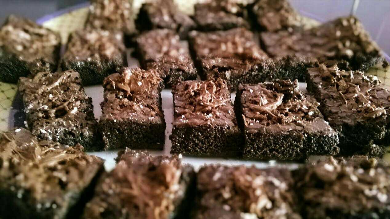 Nutella And Sea salt Brownies