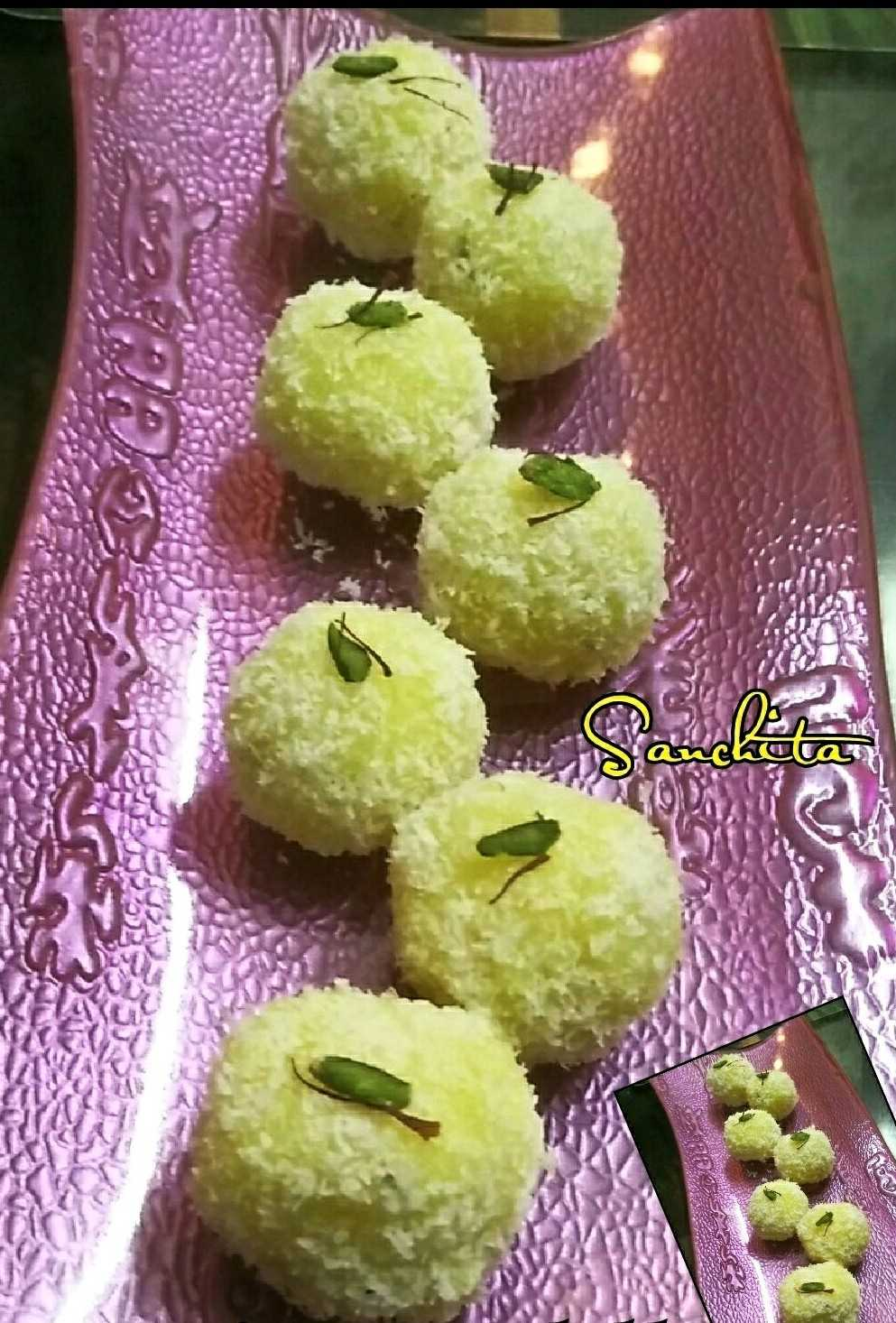 Kesariya Coconut Laddoos