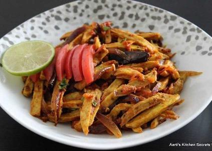 Dry Eddo In Fries Style