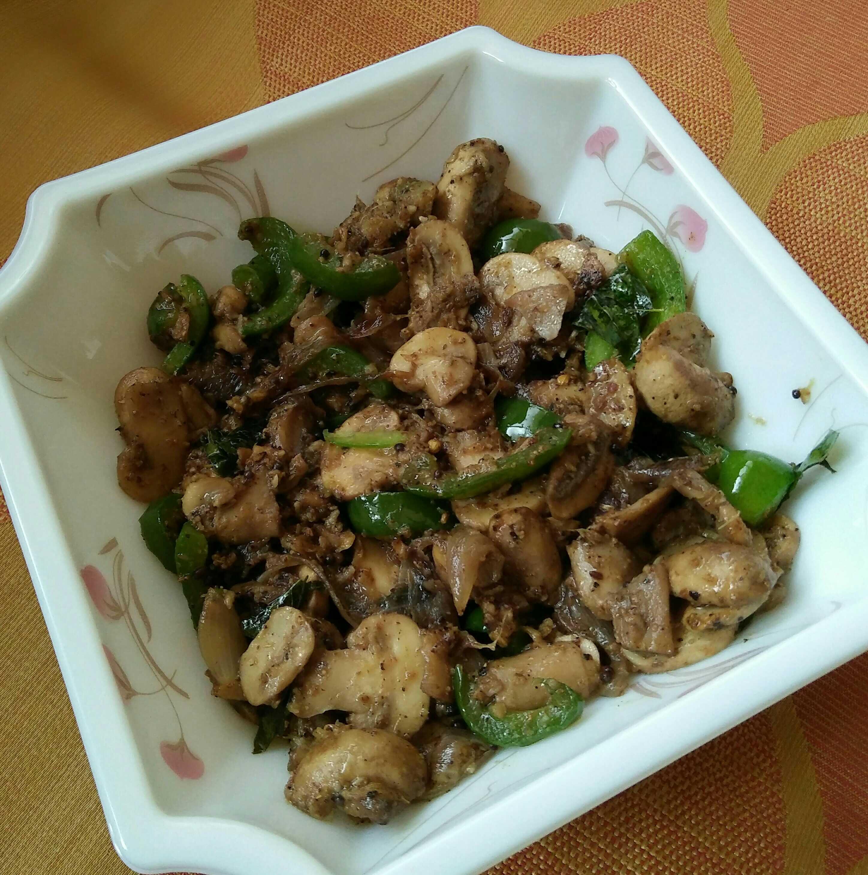 Stir Fry Pepper Mushroom