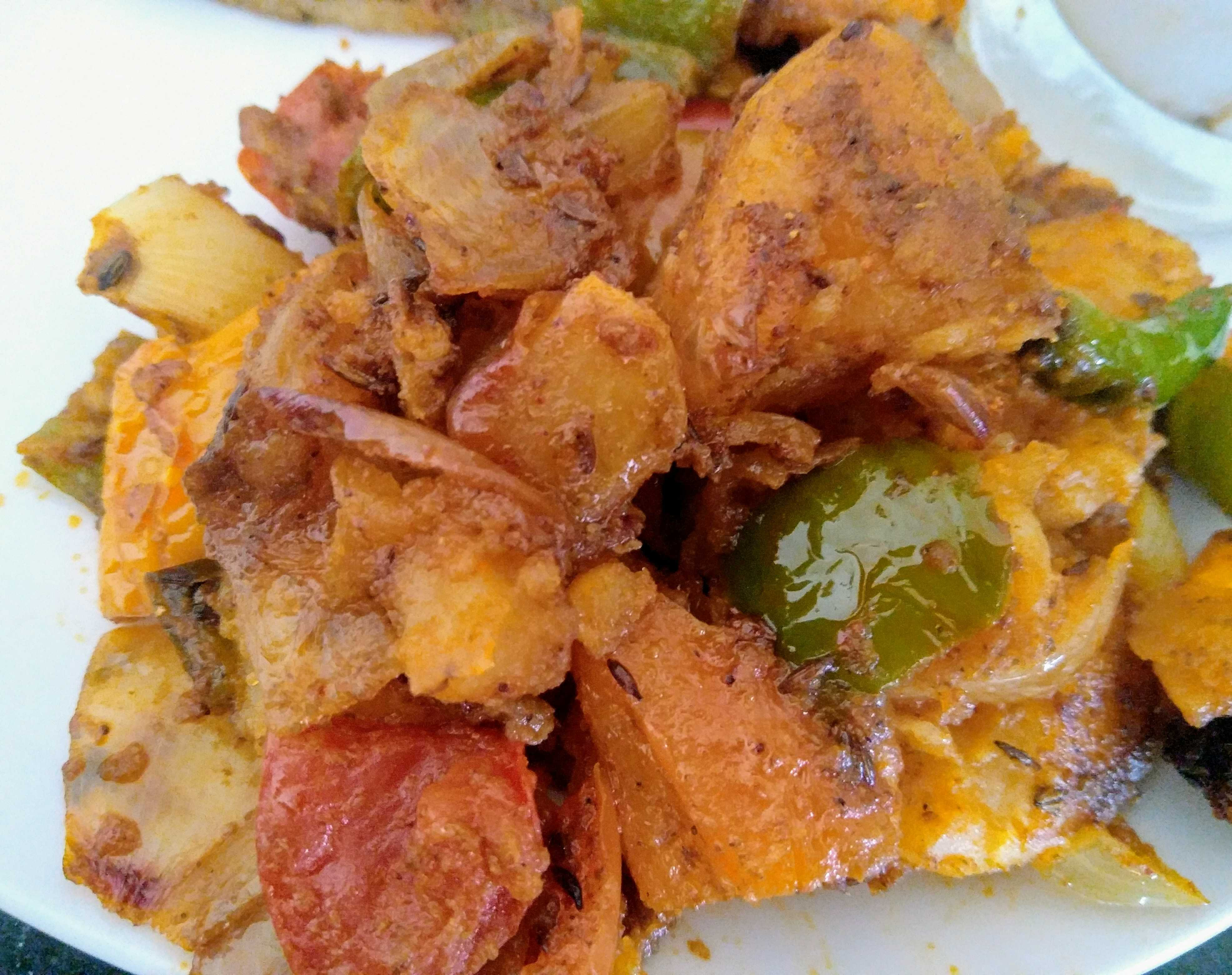 Potato/Aloo Capsicum Fry