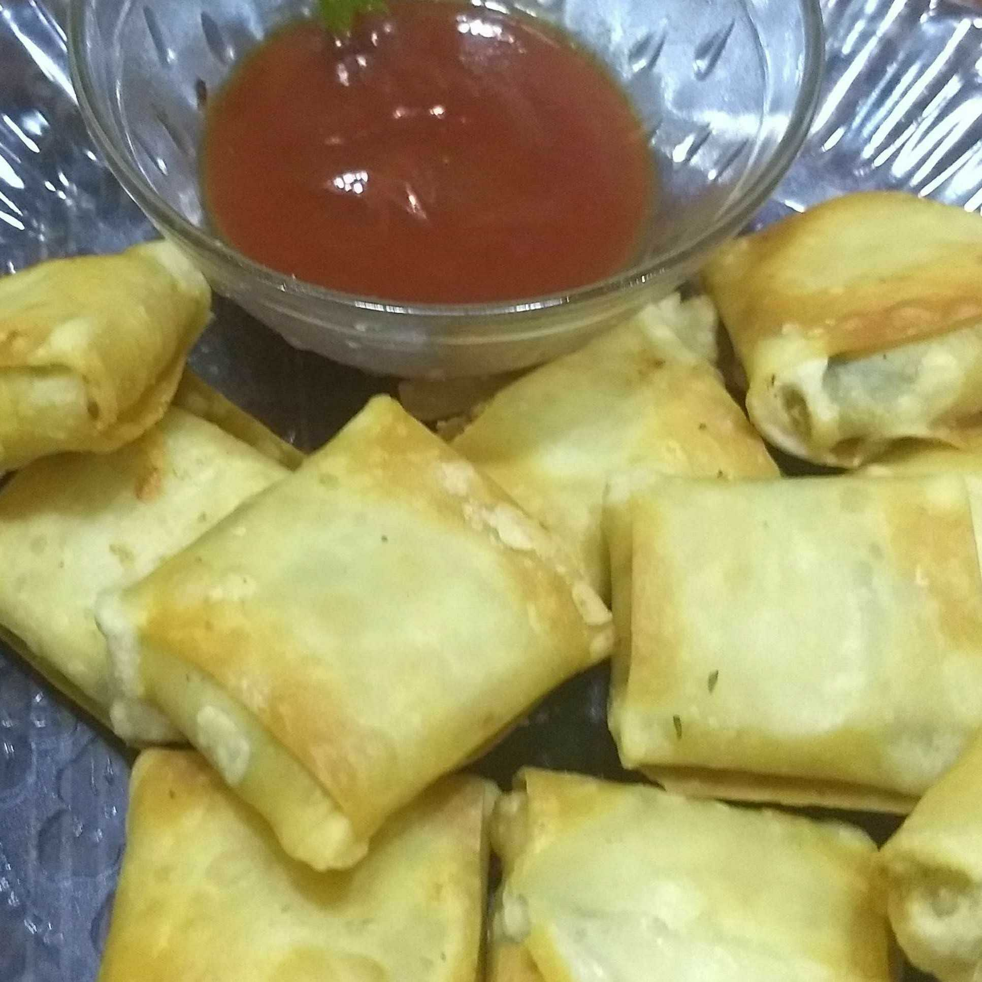 Paneer cheese parcels