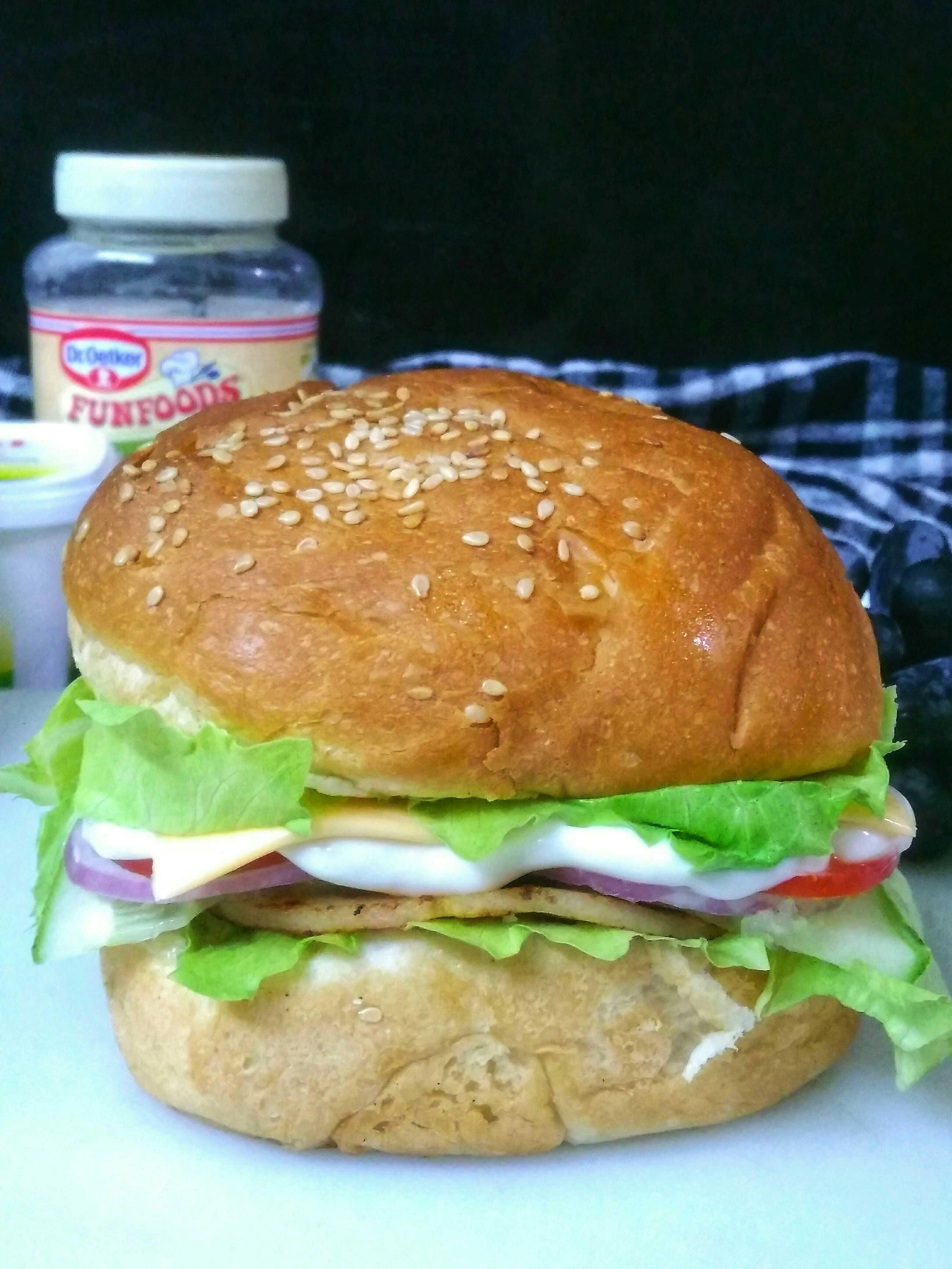Chicken Salami Burger