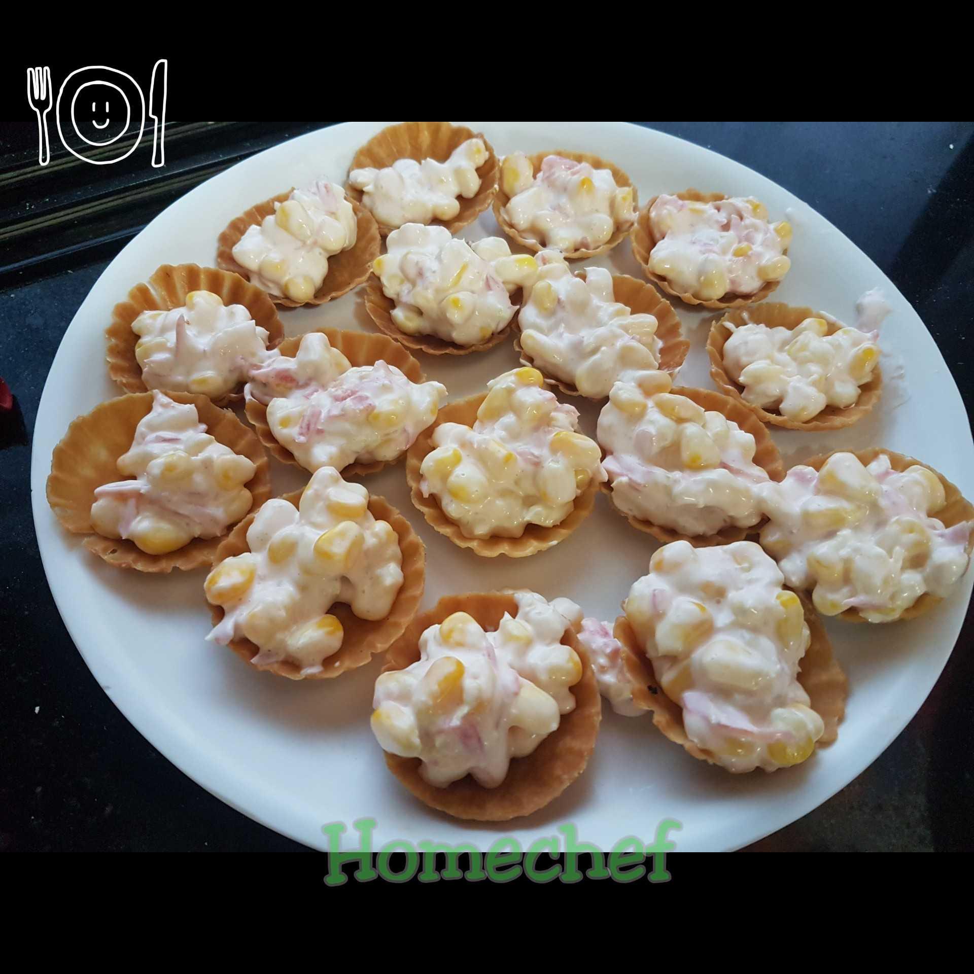 Corn Mayo Tarts