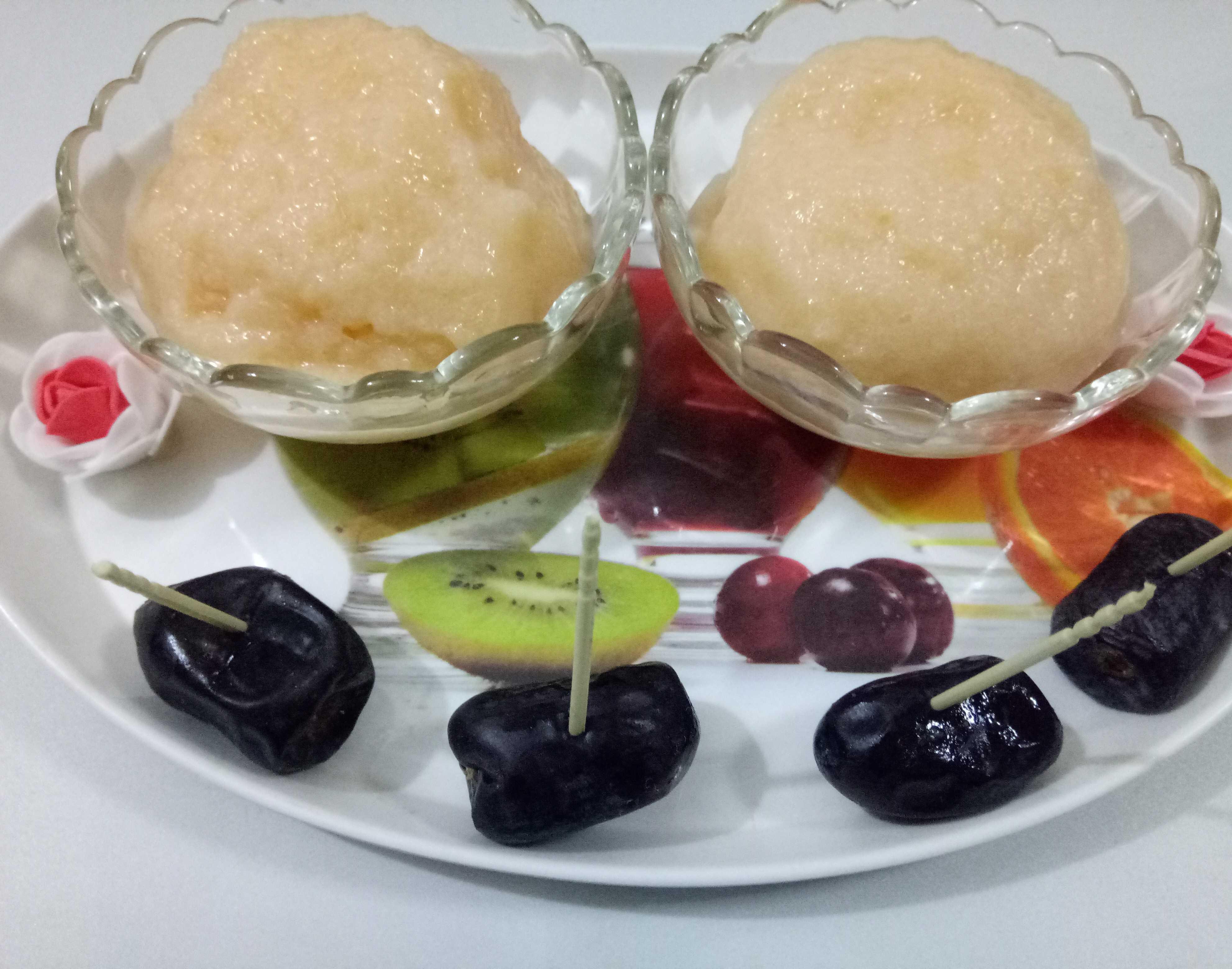 Musk Melon Sorbet (cantaloupe Sorbet)
