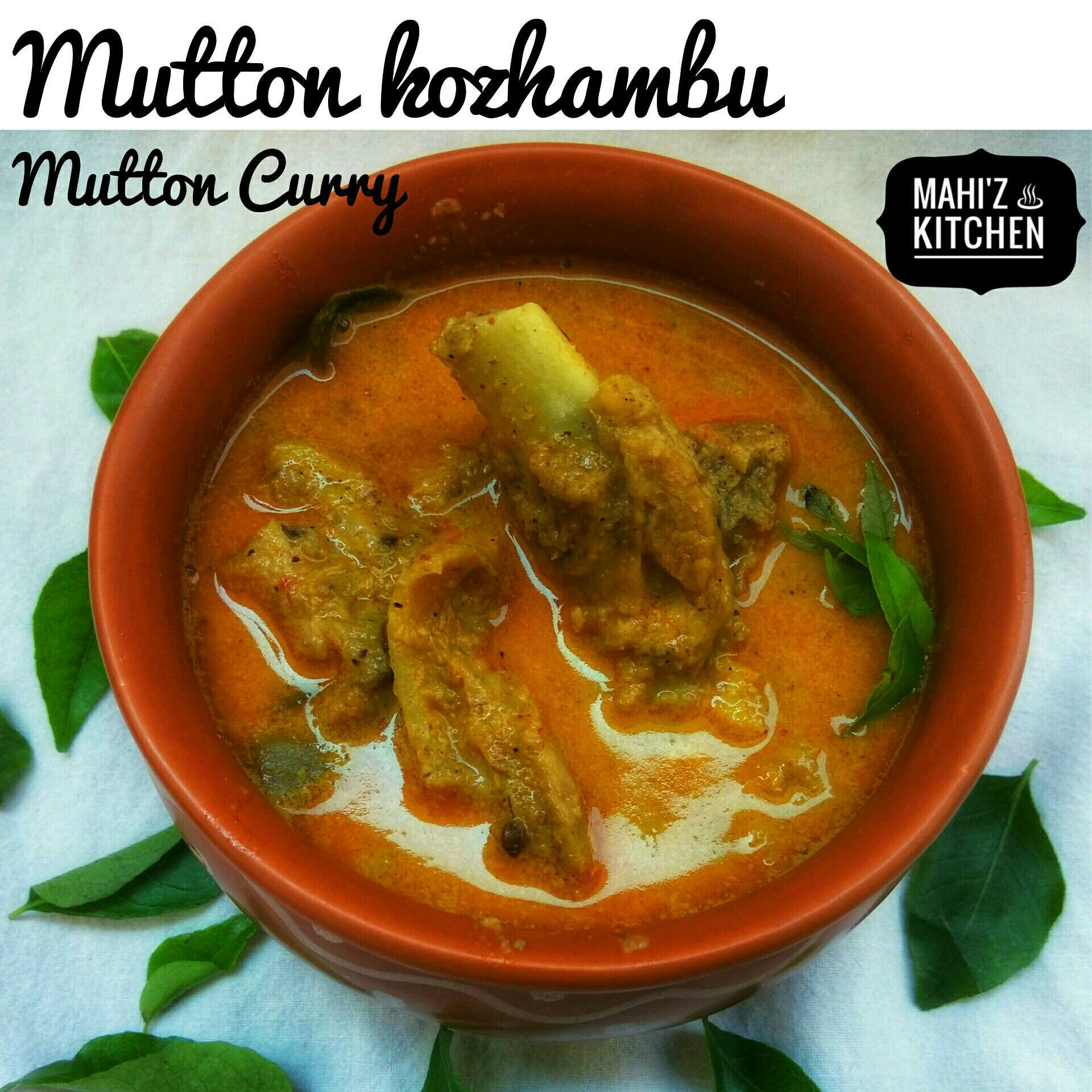 Mutton kozhambu / Mutton Curry