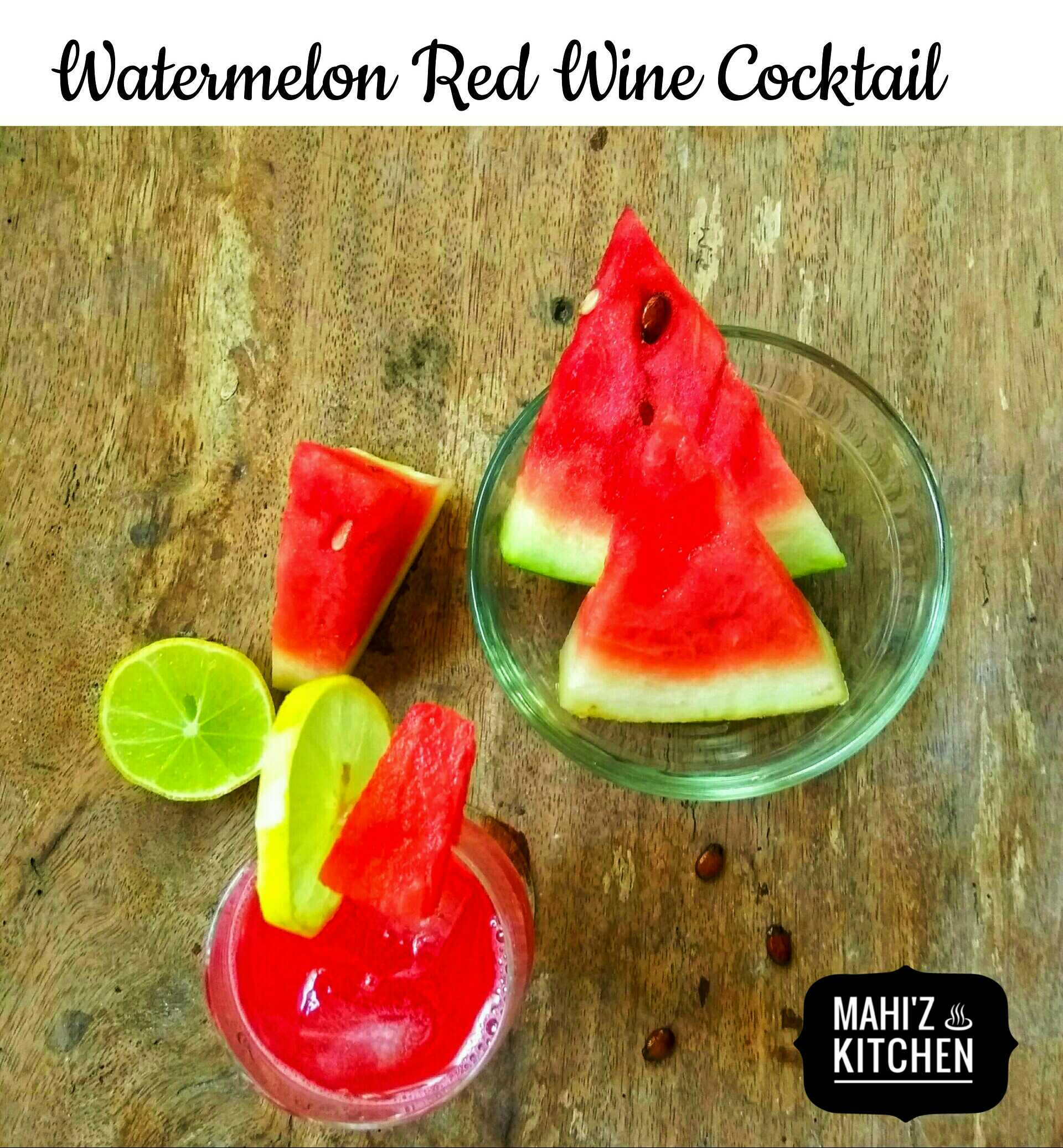 Watermelon Red Wine Cocktail
