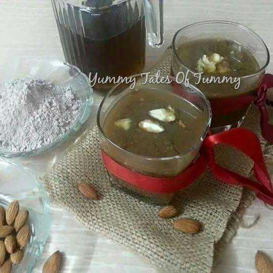 Ragi Almond Cooler