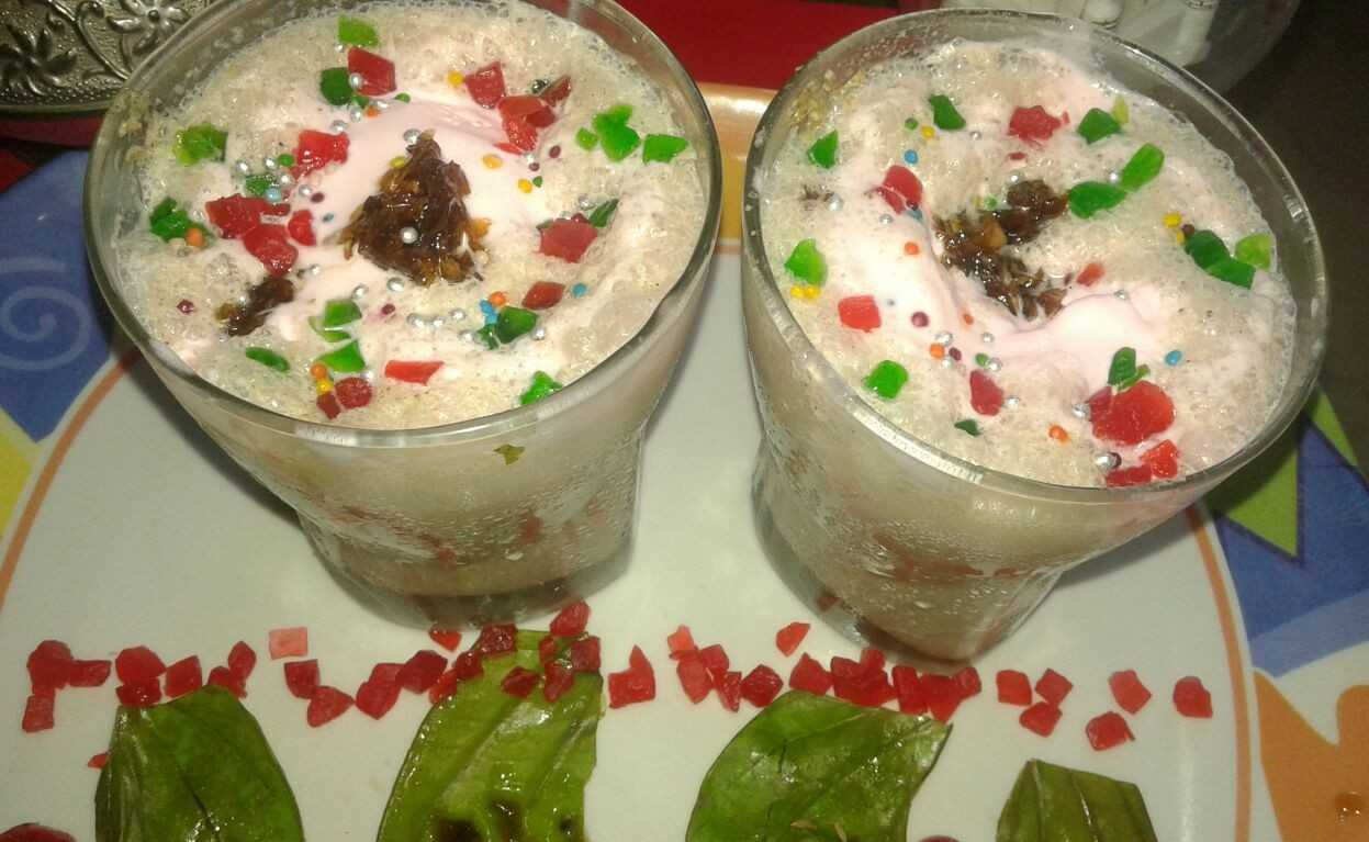 Paan , Gulkand and Icecream mix chilled drink