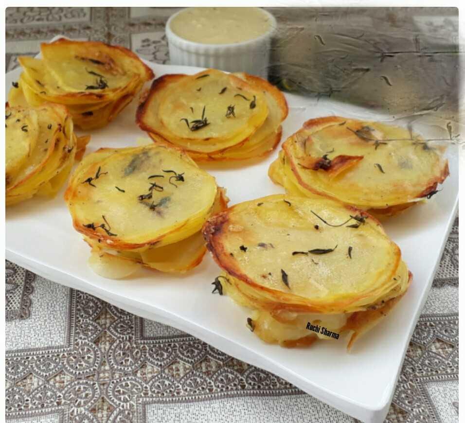 Parmesan Potato Stack