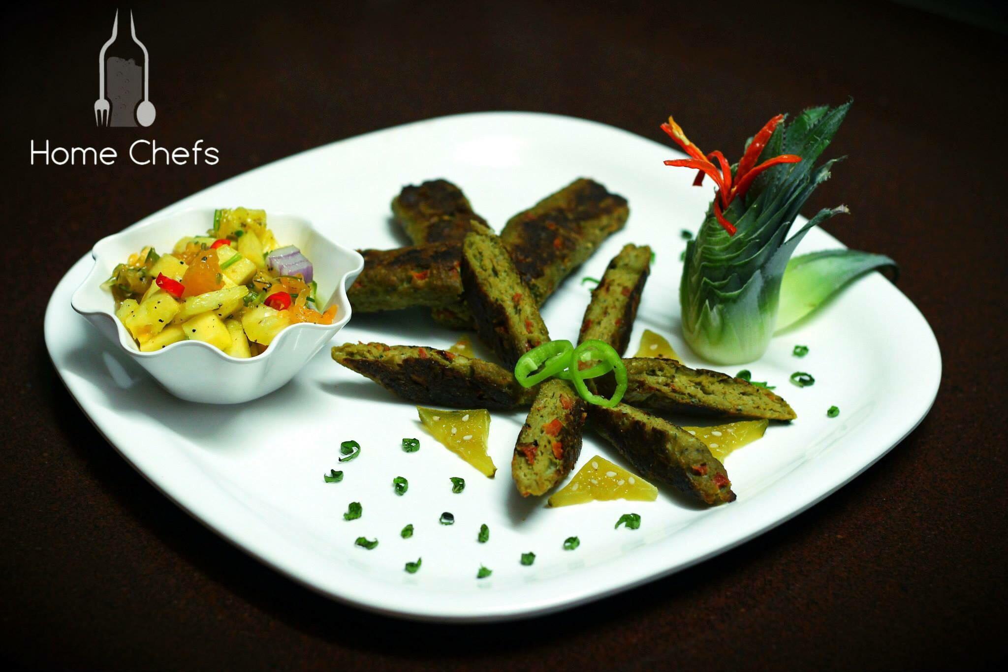 Pesto Chicken Seekh kabab