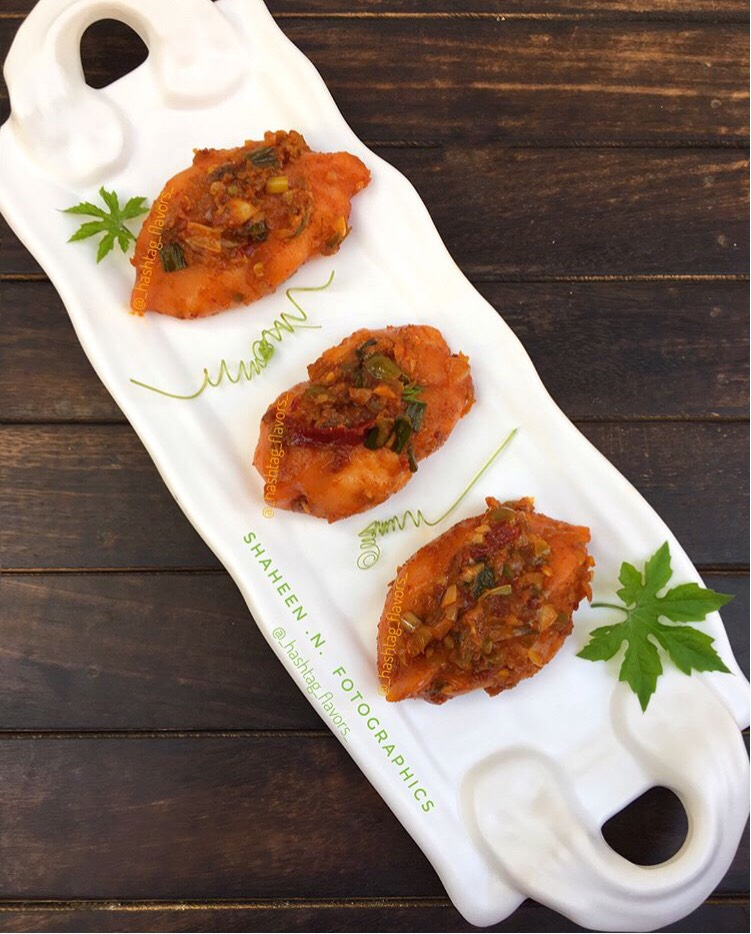 Spicy Schezwan Chicken Momos