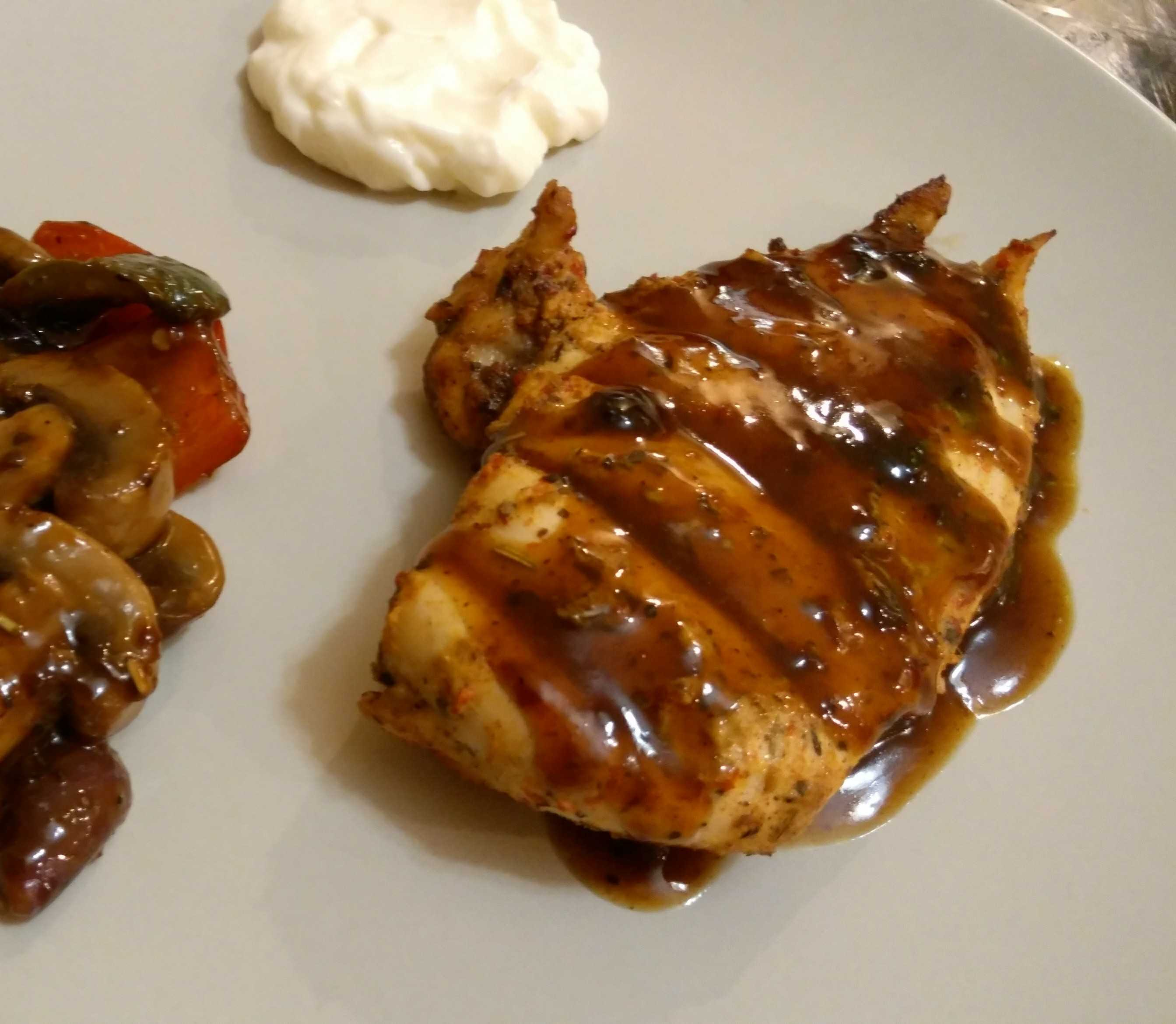 Grilled Chicken Breast With Barbeque Sauce