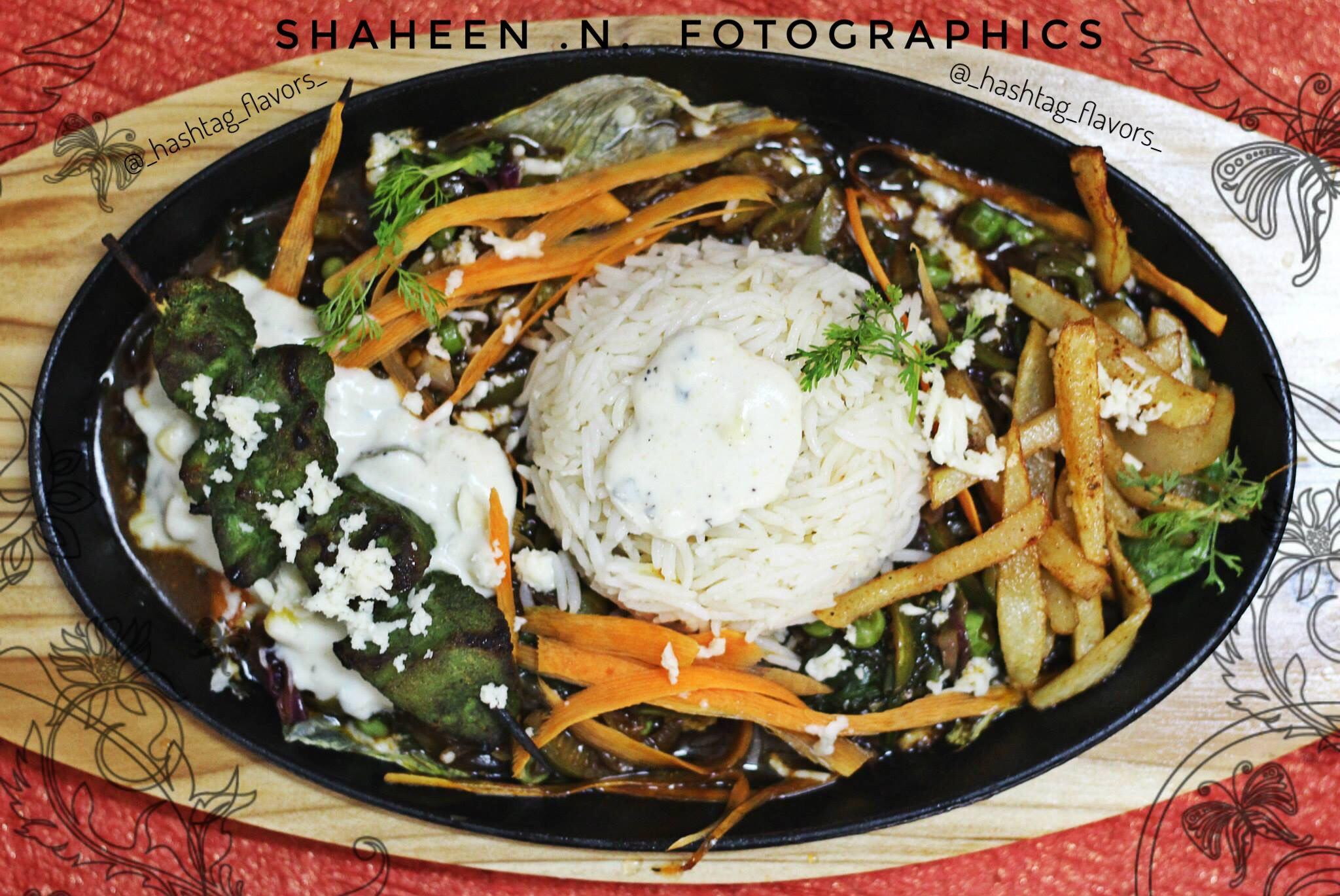 Green Chicken Shashlyk Sizzler
