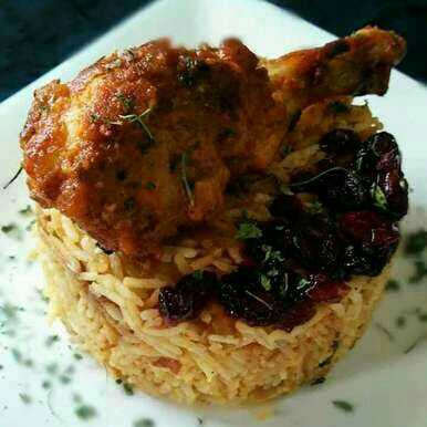 Fusion Cranberry Chicken  Pilaf