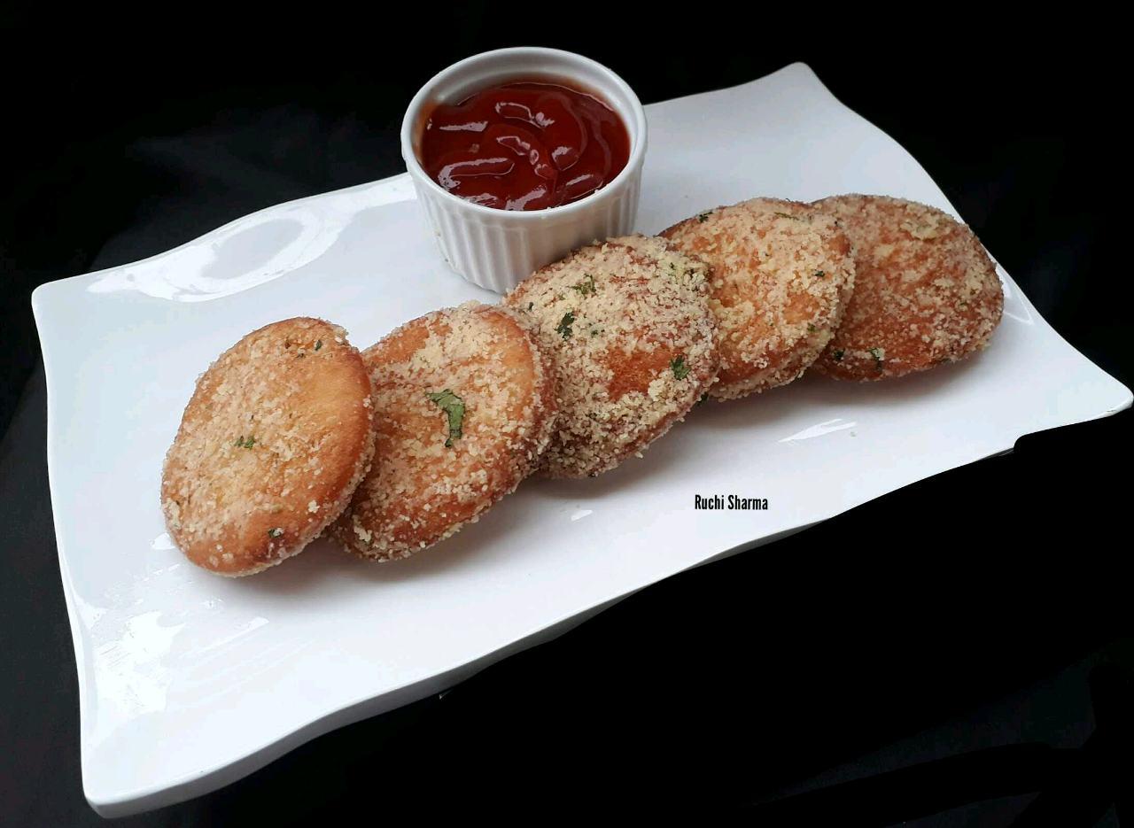 Garlic Bread Mozzarella Disc