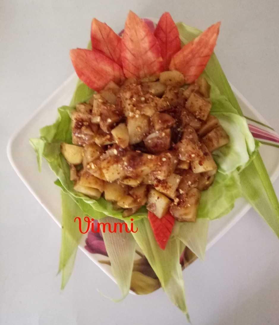 Potatoes In Tamarind Sauce