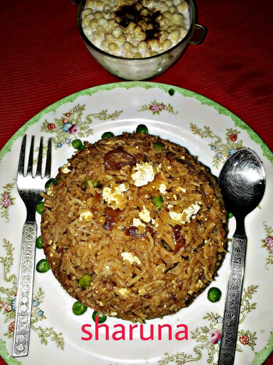 Cottage Cheese Mutter Pulav