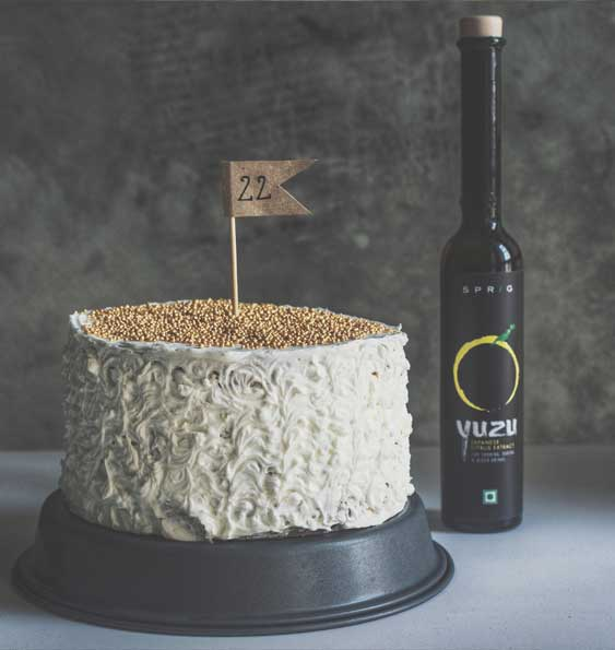Birthday Cake with Yuzu Swiss Meringue Buttercream