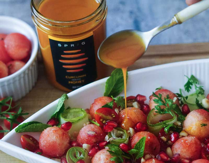 Summer Salad with Honey & Lime Dressing
