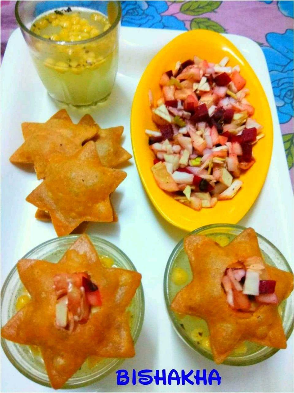 #Salsa_stuffed #Peach_Panna #Oats_Panipuri