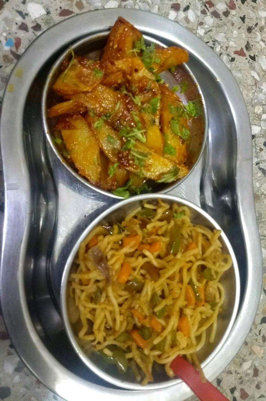 Mix veg noodles Honey Chilli Potato