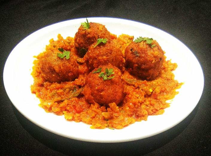 semolina kofta curry