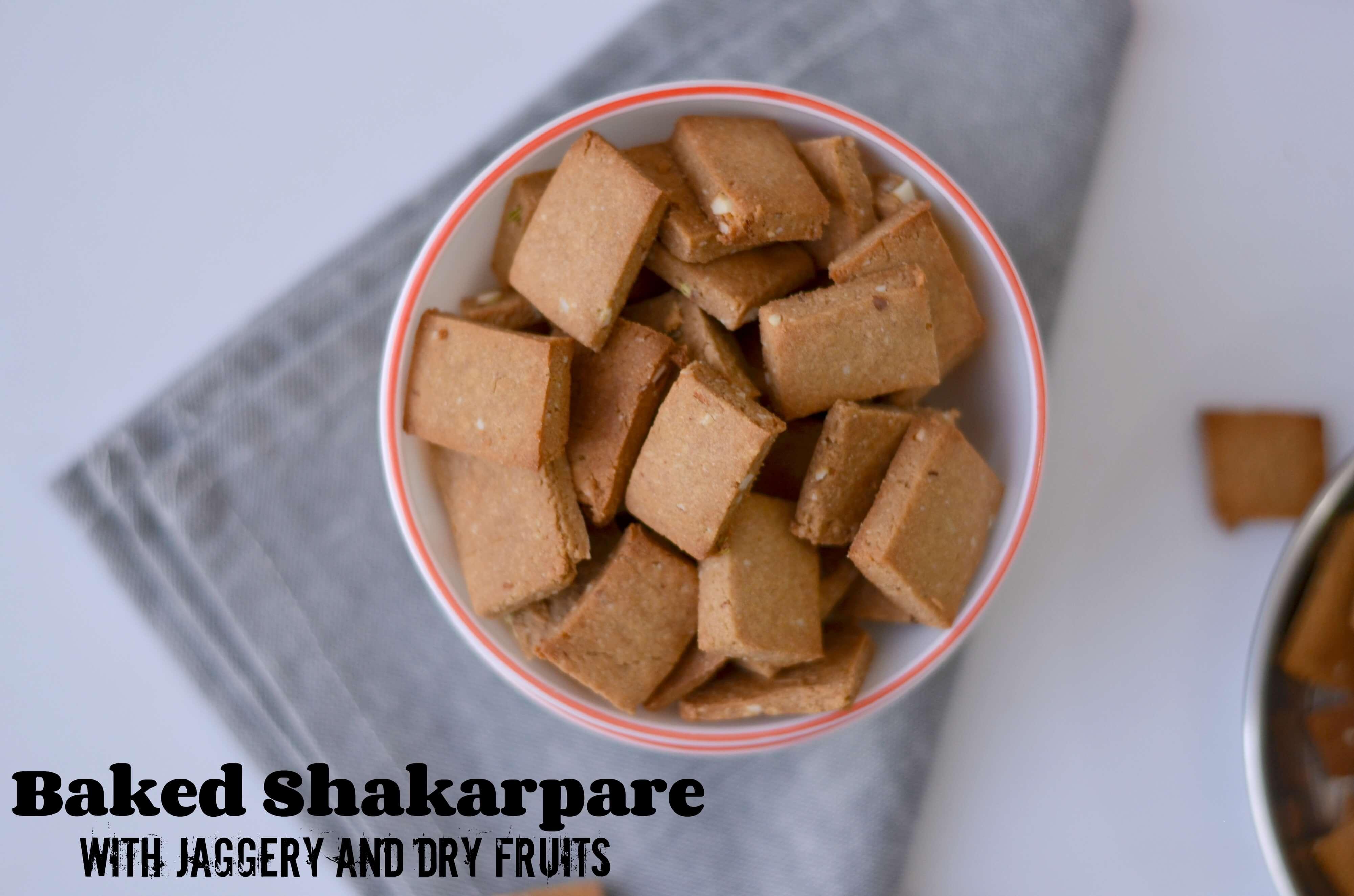 Wholewheat Baked Shakarpara Recipe