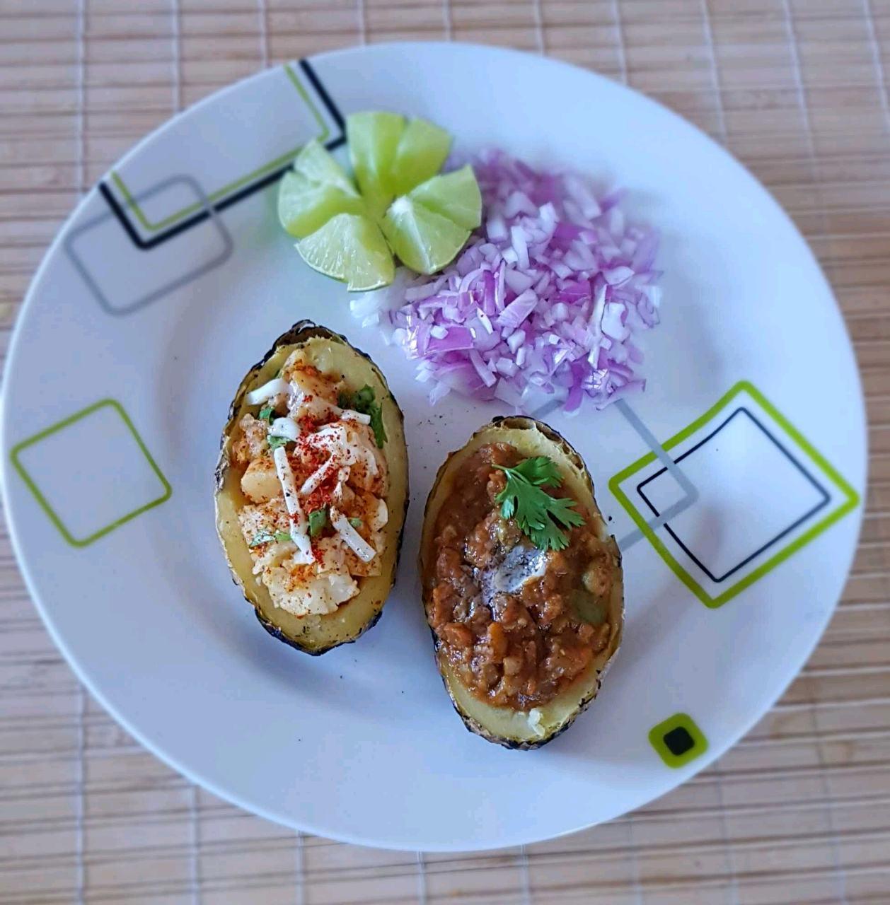 Jacket Potato Pav Bhaji