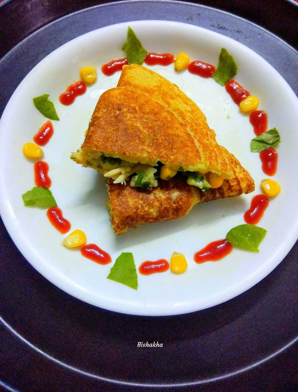 Cheesy Dosa Sandwich