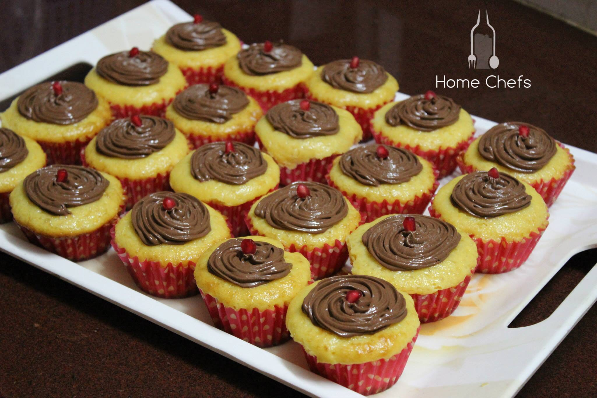 Orange Tang cupcakes with  Chocolate mousse frosting !
