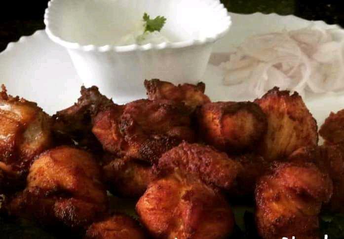 Schezwan Chicken Kebabs